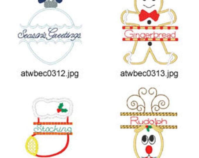 Christmas-Split-Applique ( 12 Machine Embroidery Designs from ATW ) XYZ17E