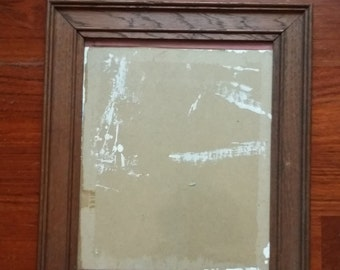Vintage Heavy Wooden Oak Frame with Glass