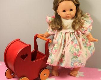"Vintage Zapf 18"" Balica girl doll in original dress"