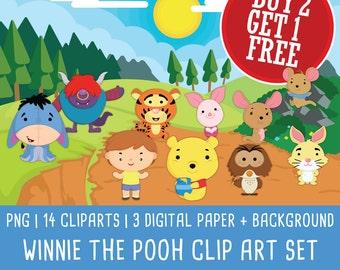 Pooh clipart   Etsy