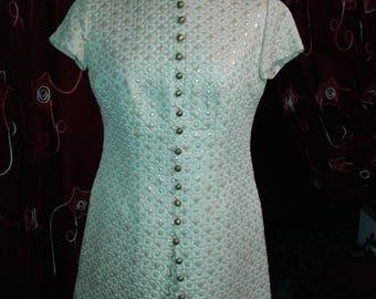 1950 Ivory Gold Dress