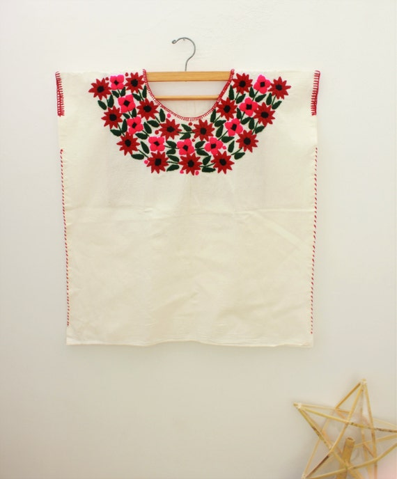 Embroidered Mexican Blouse /Flowers from Oaxaca's Valley