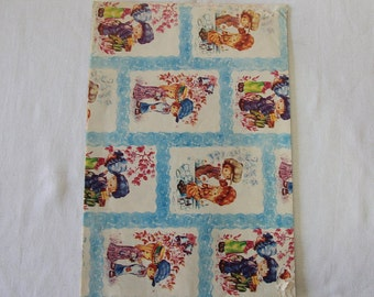 Vintage | Little Boy & Girl | Wrapping Paper #2
