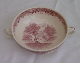 Vintage Villeroy and Boch 2 handled soup bowl.