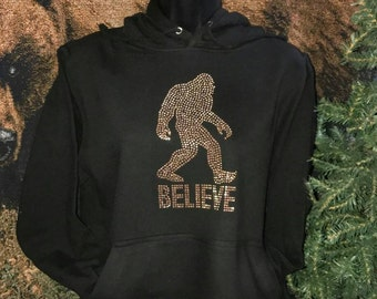 Bigfoot Sasquatch Nailhead  Hoodie - Size Small