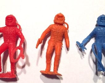 Vintage Marx spacemen astronaut figures 1960s