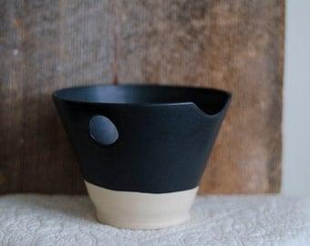 Hand Made Bowl, Black Ceramic Bowl, Pottery Bowl, Clay, Wheel Thrown bowl, Thumb Bowl