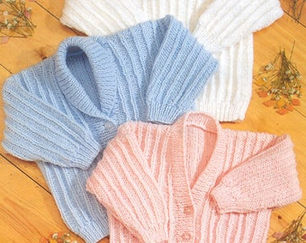 PDF Baby Cardigans and Sweater Vintage Knitting Pattern - INSTANT DOWNLOAD. Digitally Restored