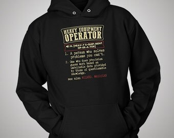 Heavy Equipment Operator Funny Dictionary Definition Hoodie