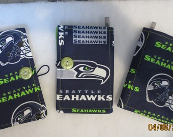 Fabric Notepad/Memo Pad Organizer featuring Seahawk Themed material