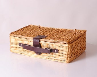suitcase in rattan/door document/handbag Bohemia/storage sewing/Wicker/trunk/suitcase make-up Briefcase