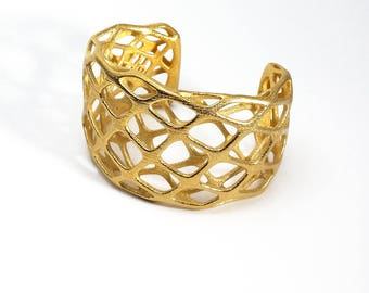 Matic Cuff - 3d Printed Steel Bracelet