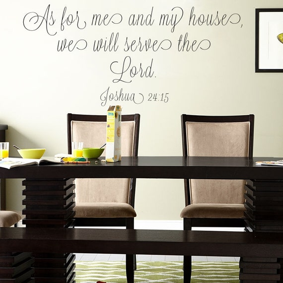 Christian Home Decor Joshua 24 15 Bible Verse By Meanderingmooseco