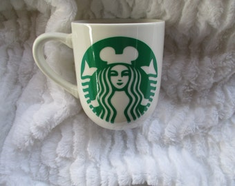Disney Mickey Mouse ears starbucks coffee cup