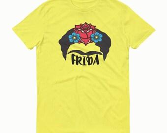 Frida T-shirt, Frida Flowers, Frida, Frida Tee, Frida Shirt