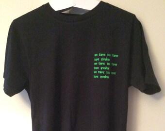 green tara mantra, fairtrade organic tee-shirt