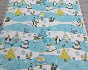 Arctic Antics-Polar Bears and Trees Cotton Flannel Fabric from Wilmington Prints