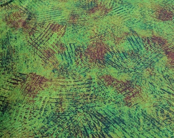Green and Red Shaded Cotton Fabric from RJR Fabrics