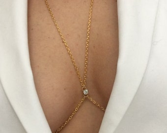 Swarovski elements body chain, chain harness, body jewellery,genuine swarovski, bridesmaids gift, gold body chain,body chain with rhinestone