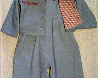Vintage 1950's toddler overalls and jacket