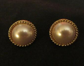 Pair of Faux Pearl Earrings