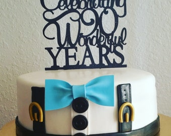 Birthday Cake Topper 90th years old