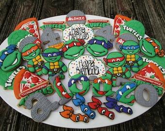 Ninja Turtle cookie set