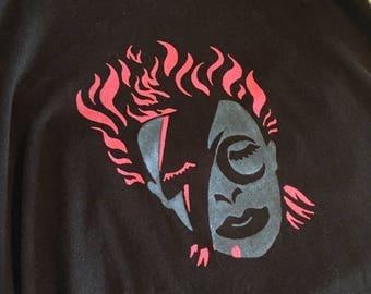 David Bowie T-shirt/Screen print/shirts for men/shirts for women/t shirt men/t shirt women