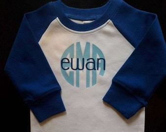 Personalized baseball baby gown