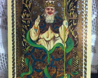 The Medieval Scapini Tarot replacement card THE POPE