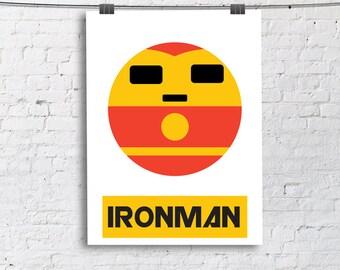Ironman Little Boy- Nursery and Children's Room art print