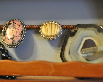 German Brooch Glass Jewelry. Vintage. Pin. Accessorie.