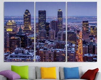 Montreal Art Wall Canvas Skyline Print Photo Poster