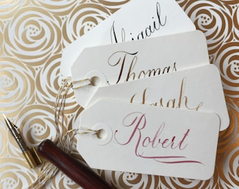 Custom Copperplate Calligraphy Gift Tags