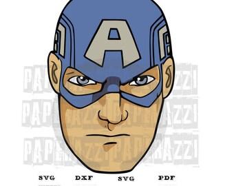 Captain America SVG DxF electronic cutting files for Cricut Design Space - Silhouette Studio - MTC - SCAL