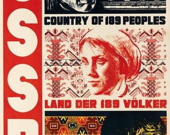 Vintage 1930's USSR Soviet Union Tourism Poster A3 Print