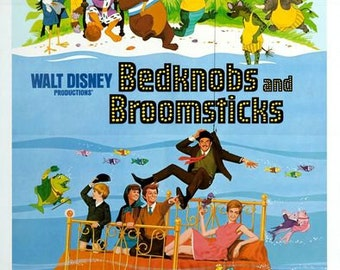 Bedknobs and Broomsticks Movie Poster  A3/A2/A1 Print