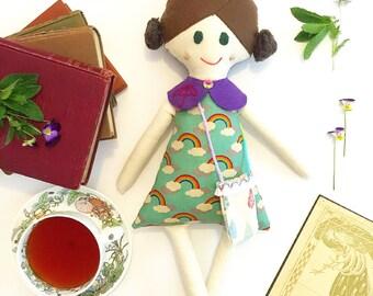 """Handmade Cloth Doll// One of a Kind Doll// Fabric doll// Heirloom doll// Rag Doll// Keepsake Doll// """"Rainer"""""""