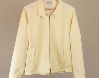 Pastel Yellow Golf Harrington Jacket