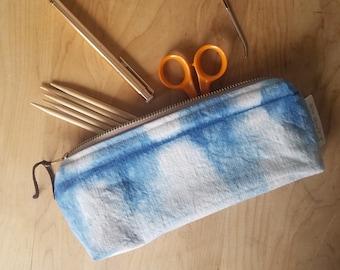 Knitting/Crochet Tool Bag - Indigo Shibori