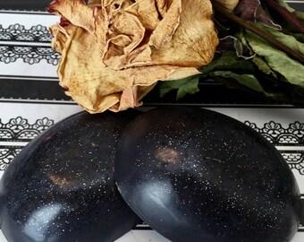 Black Rose Soap, Black Goth Soap, Rose Soap, Luxury Rose Soap, Glitter Soap, Vegan Soap