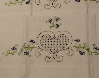 Hand Embroidered Pillow Case Pair - C1104