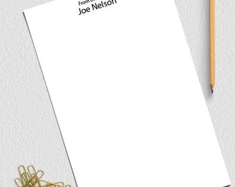 Personalized Notepad, From The Desk Of Notepad, Custom Notepad,  Personalized Notepad Set,