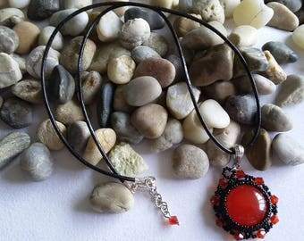 Red jade pendant