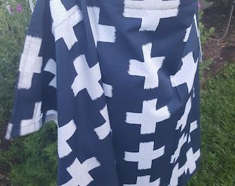 Nursing Cover Open Neck - Cross Impression