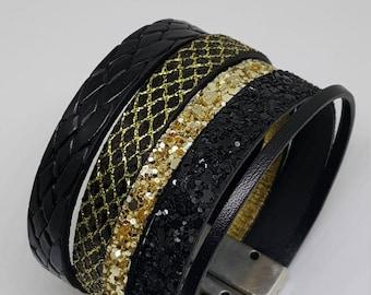 "Wristband leather ""SHÉHÉRAZADE"": Collection Prestige"