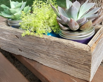Rustic Reclaimed Wood Table Centerpiece