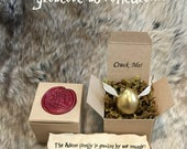 Wizard Pregnancy Announcement - Golden Snitch Egg - Baby Shower Invitation -  Pregnancy Reveal  - Save The Date - Crack Me Egg