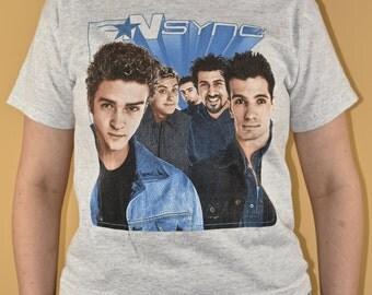 N Sync Shirt Kid's XL Winterland Band Tee Shirt