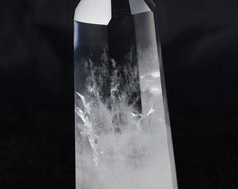Elegant Polished Clear Quartz Crystal Point / Generator